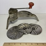 1950's Mouli Shredder with Accessories
