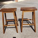 Pair of Wood Barstools