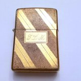"""Vintage Zippo Lighter Engraved """"I Love You"""" and """"TLM"""""""
