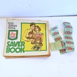 Small Lot of Vintage S&H Green Stamps Books, and Stamps