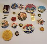 Lot of Political Pins & More