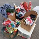 Huge Christmas Lot, Décor, Wrapping Paper, Boxes
