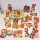 Whitman's Chocolates Tin Filled with Sweet Vintage Valentine's Cards