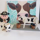 Lot of Cow Decorative Items