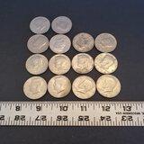 Lot of 14 Half Dollar Coins