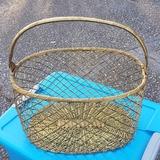 Large Vintage Brass Basket