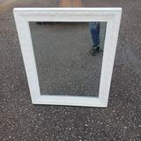 White Wood Mirror