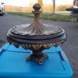 Resin Round Decorative Box with Felt Lining