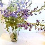 Purple Flower Artificial Arrangement in Faux Water