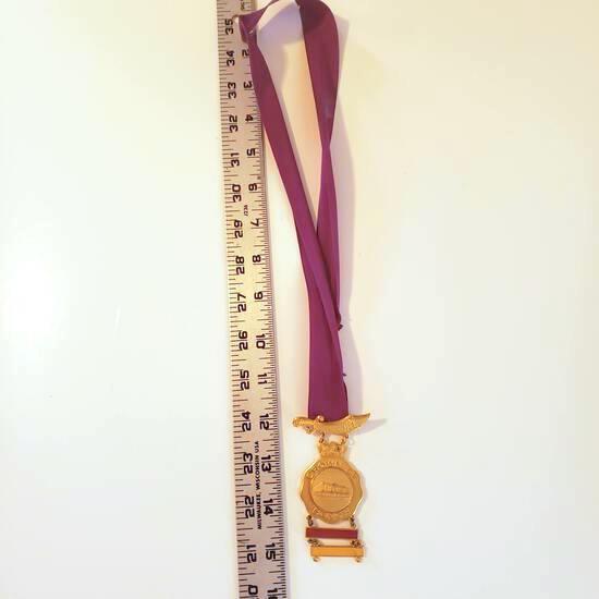 Hejaz Shriners Crown of Honor Purple Ribbon Award Medallion