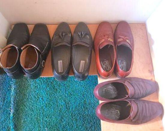 Lot of 4 Pairs Men's Dress Shoes