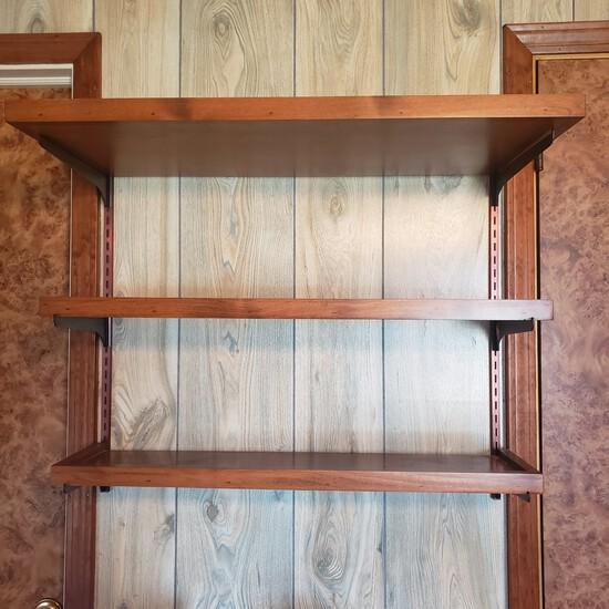 Wood Wall Bracket Display Shelves