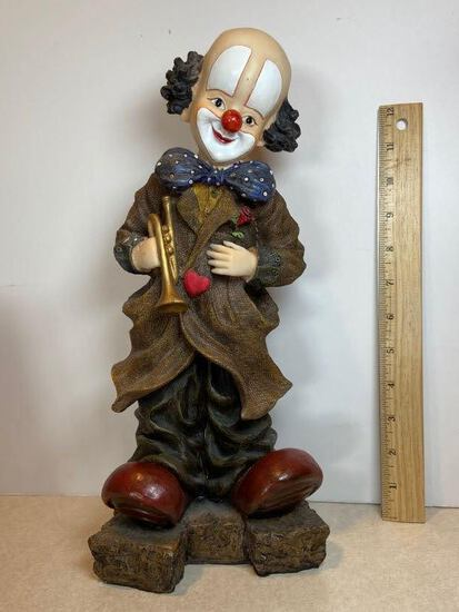 Molded Resin Clown Statue