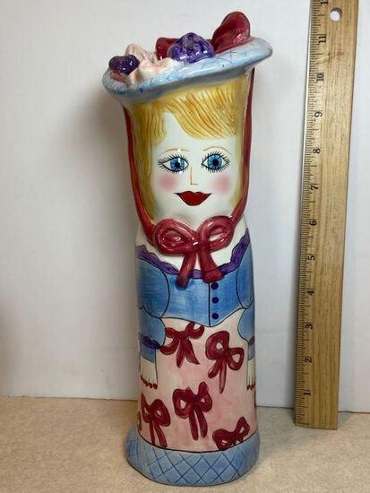 "Porcelain Lady Vase ""Stacy"" Susan Paley by Ganz"
