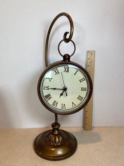 Decorative Hanging Clock on Hook with Brass Finish