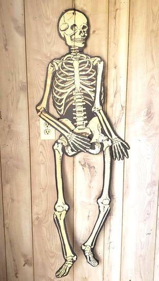 1940's Beistle Cardboard Moving Skeleton