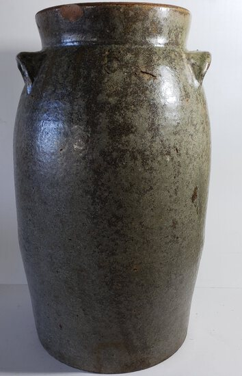 Antique 5 Gallon Pottery Crock with Handles