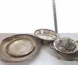Vintage Silver Plate Lot, Large Reed and Barton Platters and More