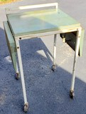 Vintage Rolling Metal Typewriter Table