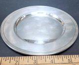 """Sterling Silver 6"""" Bread Plate, Marked Sterling 600"""