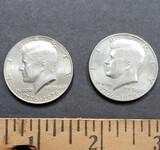 Lot of 2 Bicentennial Kennedy Half Dollar Coins