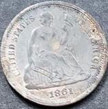 1861 Seated Liberty Silver Dime