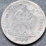 1888 Seated Liberty Silver Dime
