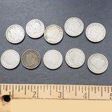 Lot of 10 V Nickel Coins
