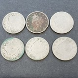 Lot of 6 V Nickel Coins