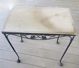 Wrought Iron Patio Side Table, Plexiglas Top