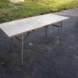 Vintage Aluminum Folding Camping Table