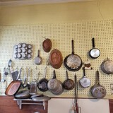 Great Wall Lot of Vintage Kitchen Items and Metal Wall Shelf