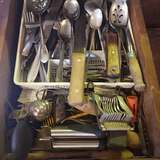 Flatware and Utensils Drawer Lot