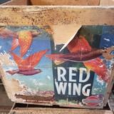 Vintage Red Wing Brand Oranges Wood Crate