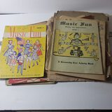 Lot of Vintage Music Books, Sheets