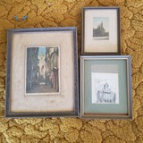 Collection of 3 Very Old Prints in Vintage Frames