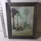 Signed Oil Painting in Ornate Vintage Frame