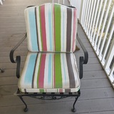 Wrought Iron Stationary Patio Chair