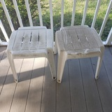 Lot of 2 Hard Plastic Patio Tables