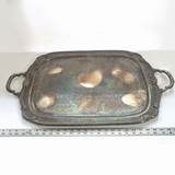 Antique Rogers Remembrance 1847 Silver-Plate Butlers Tray