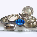 Large Lot of Vintage Silver Plate Serving Items
