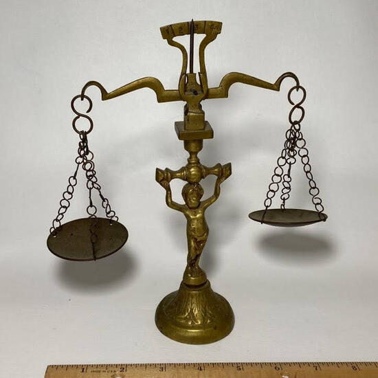 Vintage Decorative Brass Scale