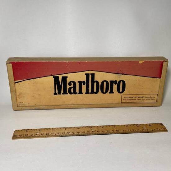 1992 Philip Morris Inc. Marlboro Shelf Display Doubled Sided Sign