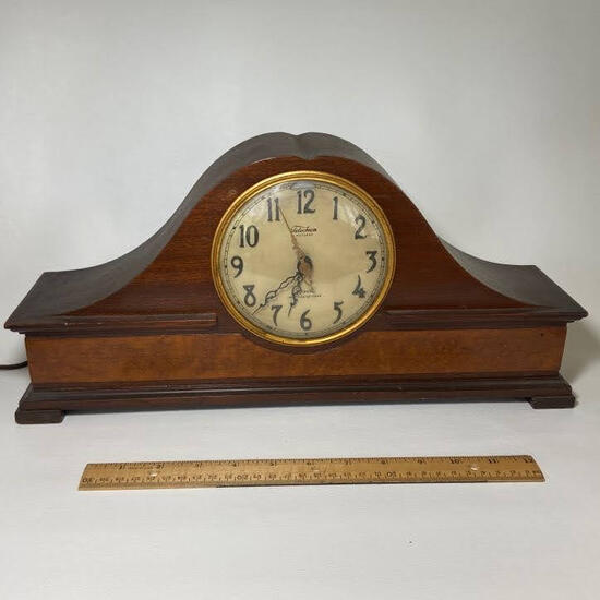 Vintage Electric Revere Westminster Chime Wooden Onion Head Mantle Clock