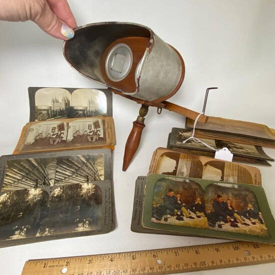 Antique Kawin & Co. Wooden View Master Pat'd July 28, 1902