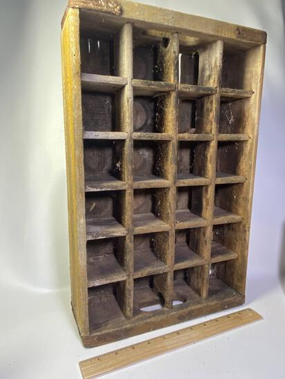 Vintage Wooden Coca-Cola Divided Wooden Crate (Has some damage on bottom, see pics)