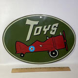 """Metal """"Toys"""" Sign Reproduction"""