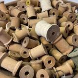 Huge Lot of Vintage Wooden Spools