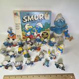 1970-80's Smurf Figurines & Game
