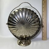 Pretty Vintage Silverplate Collapsible Buffet Server  - Made in England